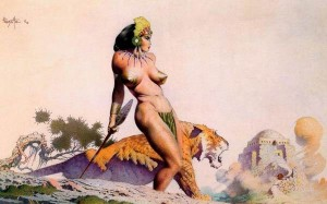 Lost-City-1960-Frank-Frazetta-100-Hand-Painted-Oil-Painting-Repro-Museum-Quality-Gift