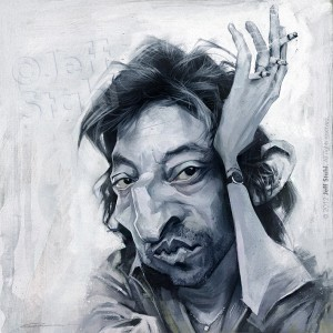 Serge Gainsbourg caricature by ©Jeff Stahl Watermark