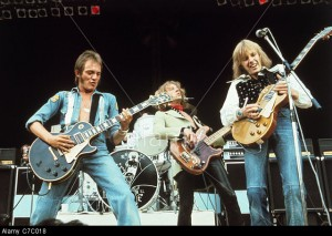 HUMBLE PIE - UK group about 1969 with from l: Steve Marriott, Greg Ridley and Peter Frampton