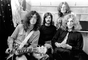 (NO SUB AGENCIES IN UK, FRANCE, GERMANY, HOLLAND, SWEDEN, FINLAND, JAPAN.) Led Zeppelin (Jimmy Page, John Bonham, John Paul Jones, Robert Plant) 1969 during Led Zeppelin File Photos at the Led Zeppelin File Photos in Various, United Kingdom. (Photo by