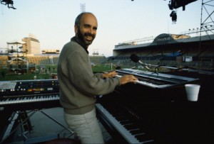 ca. 1985 --- Roy Bittan Playing the Keyboards --- Image by © Neal Preston/CORBIS