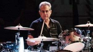 DENVER, CO - NOVEMER 19: Max Weinberg performing with 'Bruce Springsteen and the E Street Band' at The Pepsi Center in Denver, Colorado on November 19, 2012. (Photo by Larry Hulst/Michael Ochs Archives/Getty Images)
