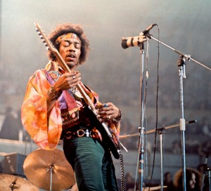 Jimi Hendrix performing at the Royal Albert Hall in London. Monday, February 24, 1969. ** USA ONLY ** © David Redfern / Redferns / Retna Ltd.